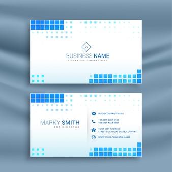 Plantilla de tarjeta de visita de estilo mosaico azul