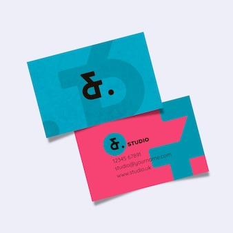 Plantilla de tarjeta de visita de estilo simplista