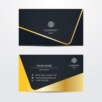 Plantilla de tarjeta de visita extravagante