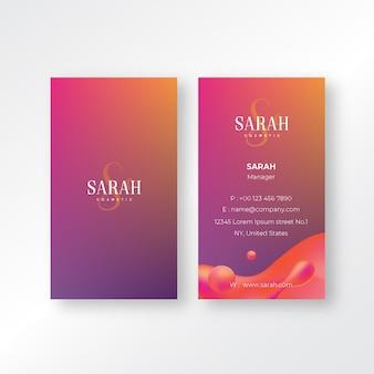 Plantilla de tarjeta de visita femenina