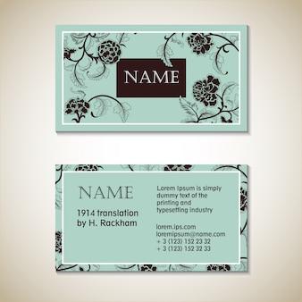 Plantilla de tarjeta de visita floral vector