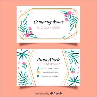 Plantilla de tarjeta de visita floral