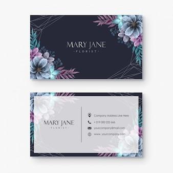 Plantilla de tarjeta de visita - florista