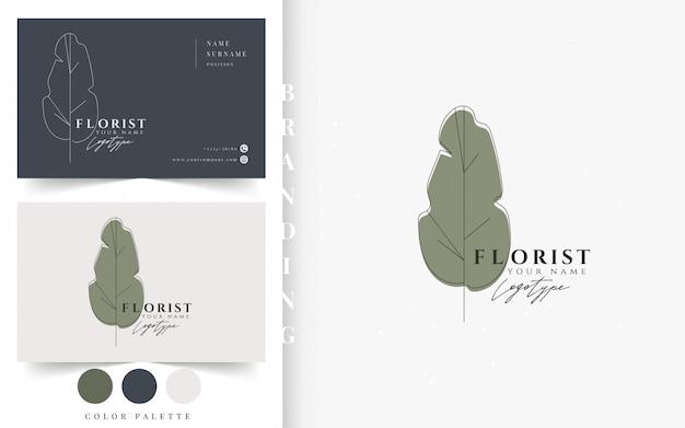 Plantilla de tarjeta de visita de floristería.
