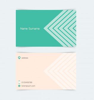 Plantilla de tarjeta de visita con fondo de patrón simple