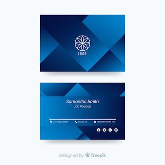 Plantilla de tarjeta de visita con forma abstracta