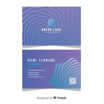 Plantilla de tarjeta de visita con formas abstractas