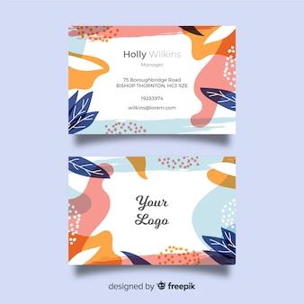 Plantilla de tarjeta de visita de formas abstractas