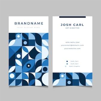 Plantilla de tarjeta de visita con formas azules
