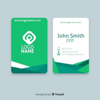 Plantilla de tarjeta de visita de formas fluidas