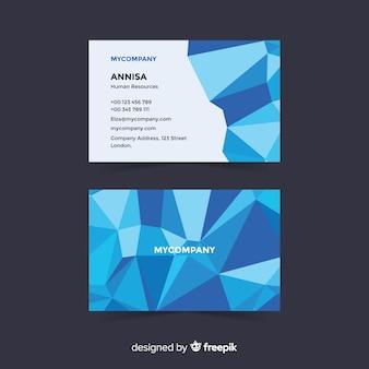 Plantilla de tarjeta de visita formas geométricas