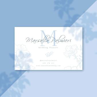 Plantilla de tarjeta de visita con foto
