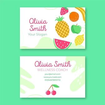 Plantilla de tarjeta de visita de frutas frescas