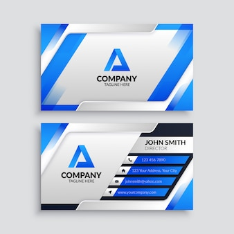 Plantilla de tarjeta de visita futurista azul