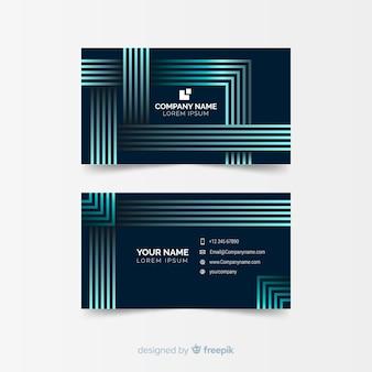Plantilla de tarjeta de visita geométrica abstracta