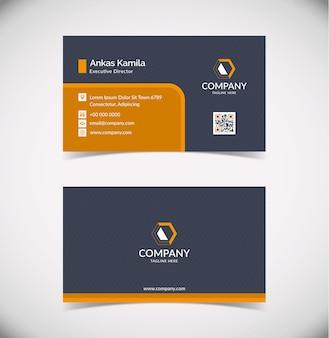 Plantilla de tarjeta de visita geométrica naranja moderna