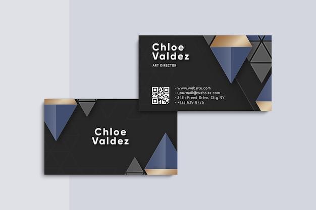 Plantilla de tarjeta de visita geométrica neumorph