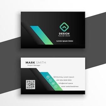 Plantilla de tarjeta de visita geométrica profesional abstracta