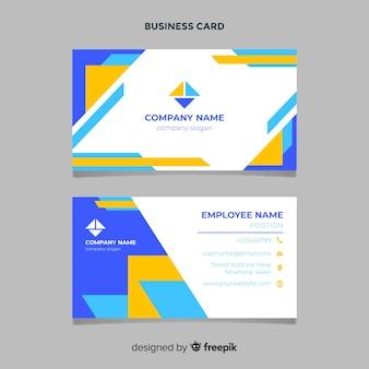 Plantilla de tarjeta de visita geométrica