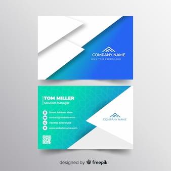 Plantilla de tarjeta de visita geométricas abstracta