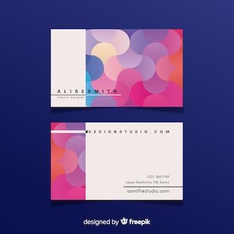 Plantilla de tarjeta de visita de gradiente líquido