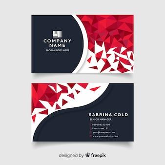 Plantilla de tarjeta de visita gradiente