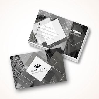 Plantilla de tarjeta de visita gris