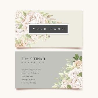 Plantilla de tarjeta de visita hermosa rosas