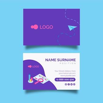 Plantilla de tarjeta de visita horizontal de doble cara seo