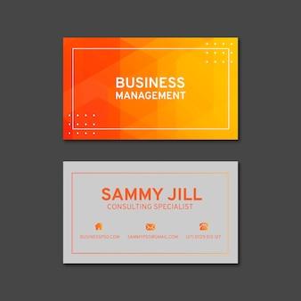 Plantilla de tarjeta de visita horizontal empresaria
