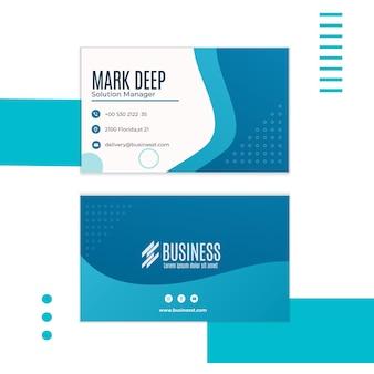 Plantilla de tarjeta de visita horizontal de negocios inteligentes