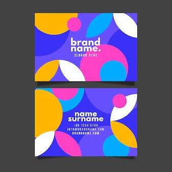 Plantilla de tarjeta de visita horizontal