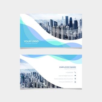 Plantilla de tarjeta de visita con horizonte