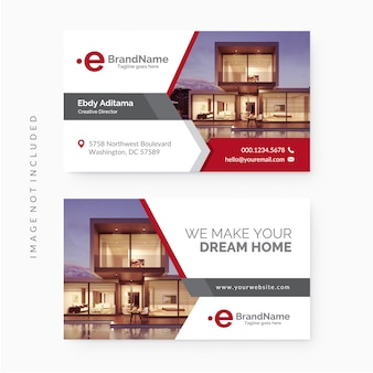 Plantilla de tarjeta de visita inmobiliaria