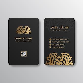 Plantilla de tarjeta de visita de lámina de oro