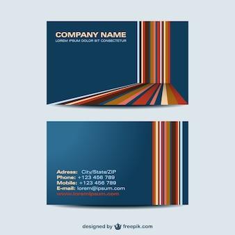 Plantilla de tarjeta de visita con líneas de colores