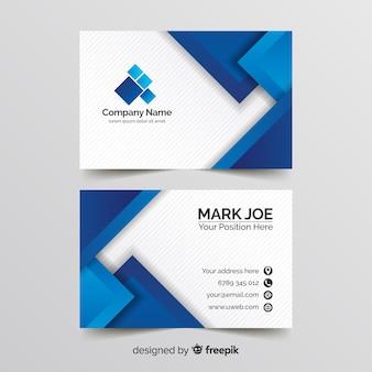 Plantilla de tarjeta de visita de líneas geométricas