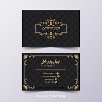 Plantilla de tarjeta de visita de lujo