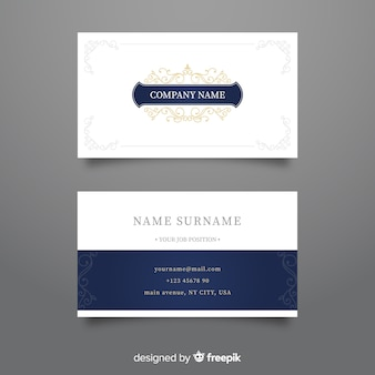 Plantilla de tarjeta de visita lujosa y elegante
