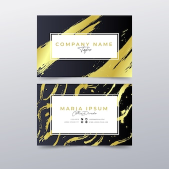 Plantilla de tarjeta de visita de manchas doradas