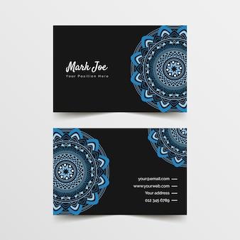 Plantilla de tarjeta de visita de mandala