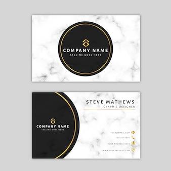 Plantilla de tarjeta de visita de mármol