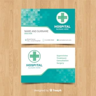 Plantilla  tarjeta de visita de médico con estilo moderno