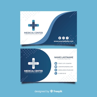 Plantilla de tarjeta de visita de médico con estilo moderno