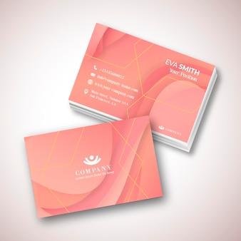 Plantilla de tarjeta de visita melocotón