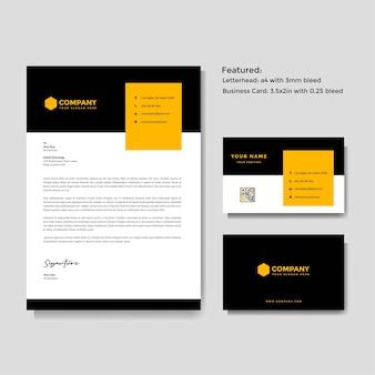 Plantilla de tarjeta de visita y membrete creativo profesional