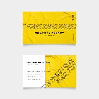 Plantilla de tarjeta de visita mínima colorida
