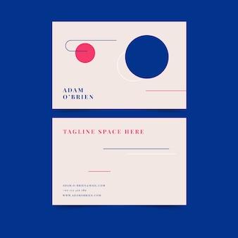 Plantilla de tarjeta de visita minimalista colorida