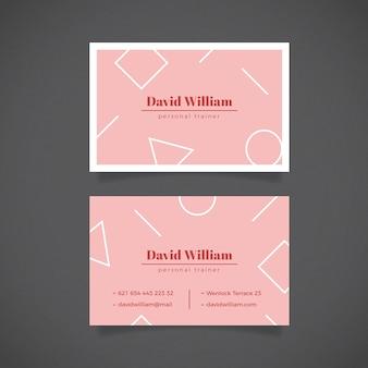 Plantilla de tarjeta de visita minimalista con líneas geométricas