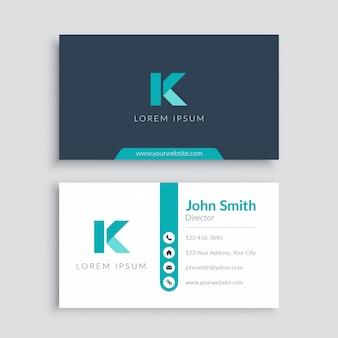 Plantilla de tarjeta de visita minimalista moderna